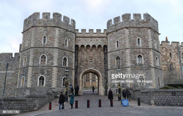 General view of Windsor Castle as St George's Chapel at the castle in Berkshire has been chosen as the venue for the wedding of Prince Harry and...