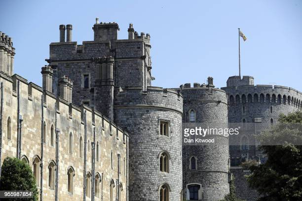 A general view of Windsor Castle as the town prepares for the wedding of Prince Harry and his fiance US actress Meghan Markle on May 8 2018 in...
