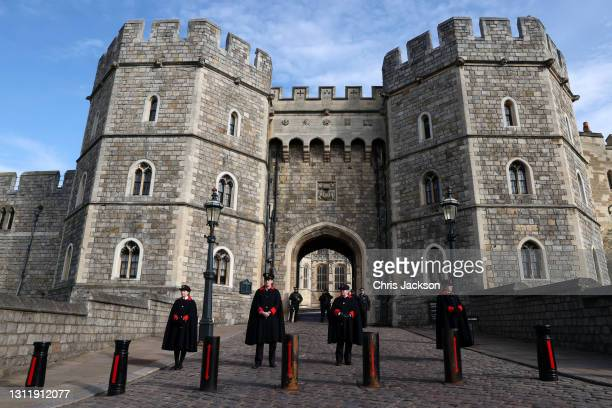 General view of Windsor Castle on April 11, 2021 in Windsor, England. The Queen announced the death of her beloved husband, His Royal Highness Prince...