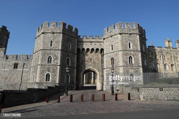 General view of Windsor Castle on March 01, 2021 in Windsor, England. The Duke of Edinburgh was today transferred from King Edward VII's Hospital to...