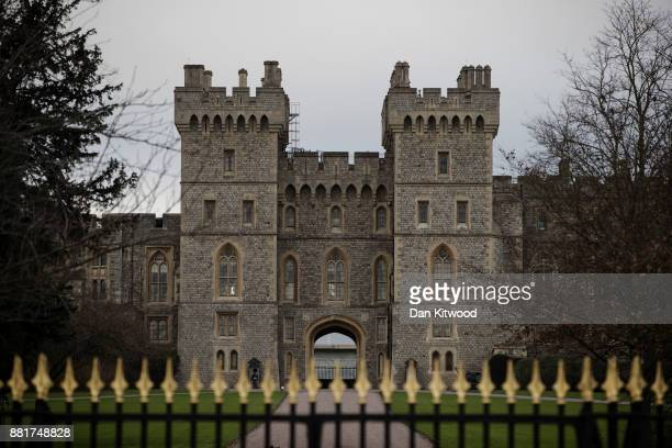 A general view of Windsor Castle on November 29 2017 in Windsor England Prince Harry and Meghan Markle are due to marry in St George's Chapel at...