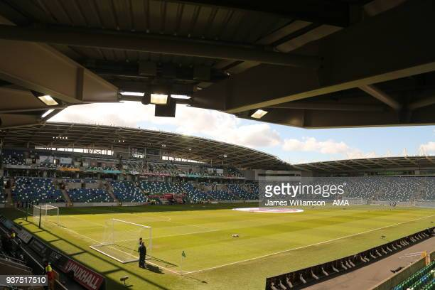 General view of Windsor park during an International Friendly fixture between Northern Ireland and Korea Republic at Windsor Park on March 24 2018 in...