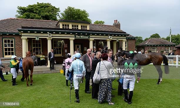 General view of winners enclosure at Ripon Racecourse on June 20 2013 in Ripon England