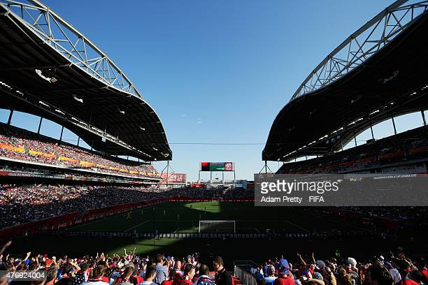 General view of Winnipeg Stadium during the Group D match between United States of America and Sweden of the FIFA Women's World Cup 2015 at Winnipeg...