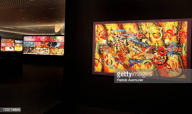 General view of works of art on display at The Birth of Pressionism exhibition on August 12011 in Monaco This major exhibit at the Grimaldi Forum...