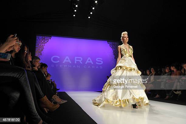 A general view of World MasterCard Fashion Week Spring 2015 Collections Atmosphere Day 5 at David Pecaut Square on October 24 2014 in Toronto Canada