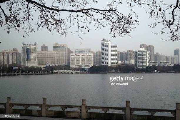 A general view of Wuhan on January 31 2018 in Wuhan China Mrs May is being accompanied by a business delegation during her threeday visit to China...
