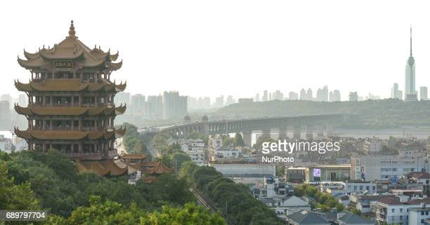 A general view of Wuhan with Yellow Crane Tower site situated on Sheshan On Monday September 14 2016 in Wuhan China