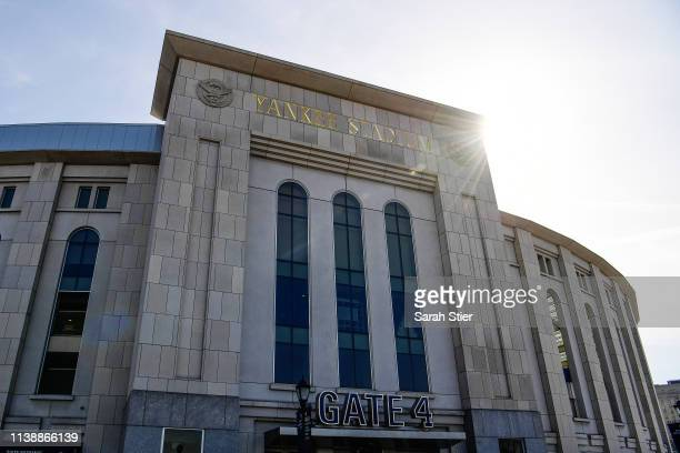 A general view of Yankee Stadium before the game between the New York Yankees and the Baltimore Orioles during Opening Day at Yankee Stadium on March...