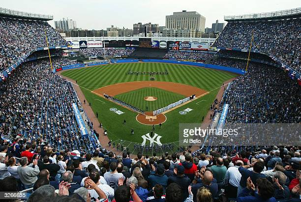 General View of Yankee Stadium before the home opener against the Chicago White Sox on April 8, 2004 at Yankee Stadium in the Bronx, New York.