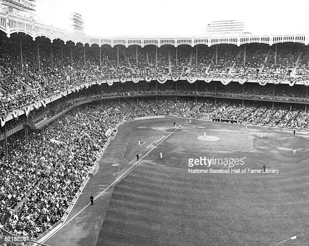 General view of Yankee Stadium during a game circa 1930's in the Bronx New York