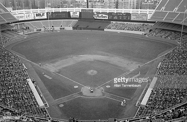 General view of Yankee Stadium during a the final baseball game of the regular season between the New York Yankees and the Detroit Tigers New York...