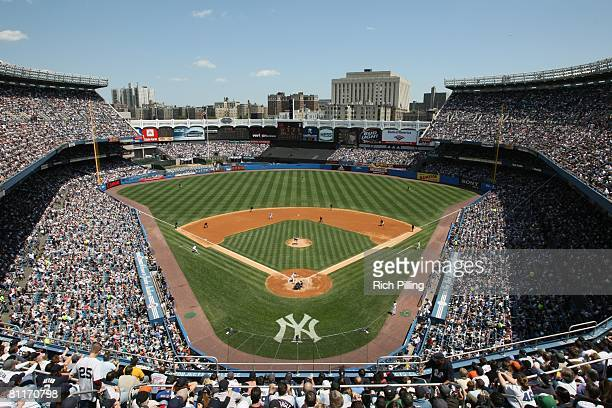 General view of Yankee Stadium during the game between the New York Yankees and the New York Mets at Yankee Stadium in the Bronx, New York on May 17,...