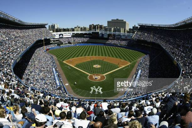 General view of Yankee Stadium during the New York Yankees game against the Boston Red Sox on April 24, 2004 at Yankee Stadium in the Bronx, New...