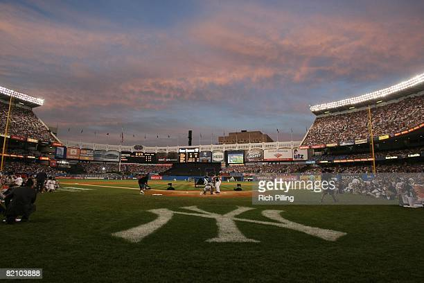 General view of Yankee Stadium during the State Farm Home Run Derby in the Bronx, New York on July 14, 2008.