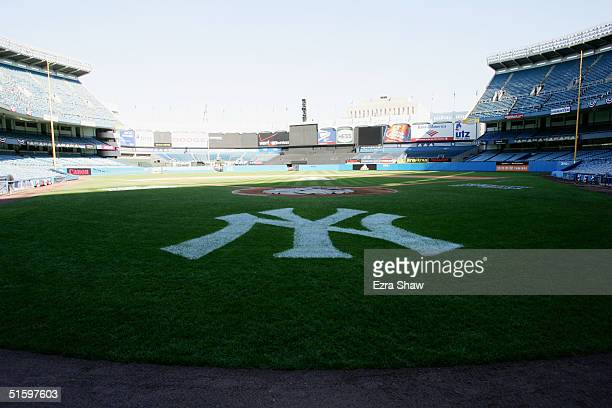 General view of Yankee Stadium prior to the game between the New York Yankees and the Minnesota Twins in the Bronx New York on October 8 2004 The...