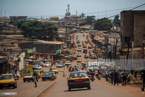 General view of Yaounde on March 17, 2019 in Yaounde, Cameroon.