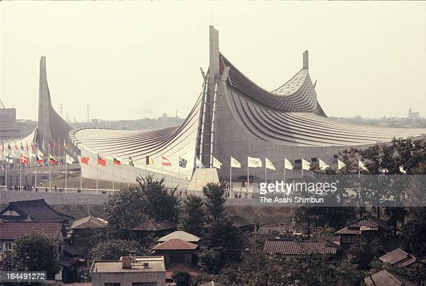General view of Yoyogi National Gymnasium ahead of Tokyo Olympic on October 1 1964 in Tokyo Japan