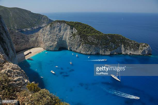 A general view of Zakynthos island Zante on August 5 2016