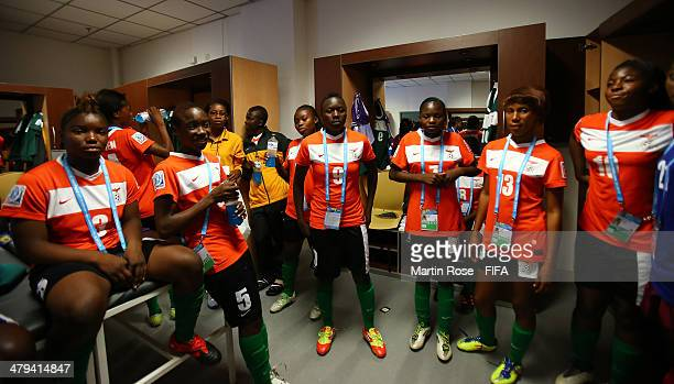 A general view of Zambia changing room before the FIFA U17 Women's World Cup 2014 group A match between Venezuela and Zambia at Estadio Nacional on...