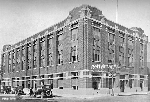 General view, office building of the South Bend Tribune, South Bend, Indiana, 1922. From The Architectural Forum Volume XXXVII. [Rogers and Manson,...