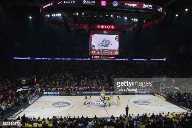 General view ofTurkish Airlines EuroLeague Final Four Semifinal A game between Fenerbahce Istanbul v Real Madrid at Sinan Erdem Dome on May 19 2017...