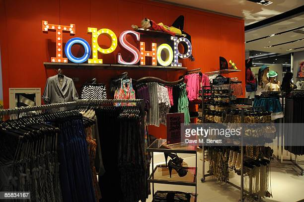 General view on April 1, 2009 of the Top Shop flagship store during the Topshop /Topman preview VIP shopping event on Broadway in New York City,USA.