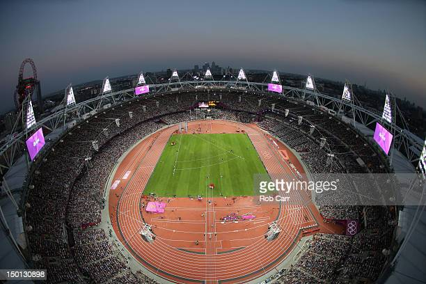 General view on Day 14 of the London 2012 Olympic Games at Olympic Stadium on August 10, 2012 in London, England.