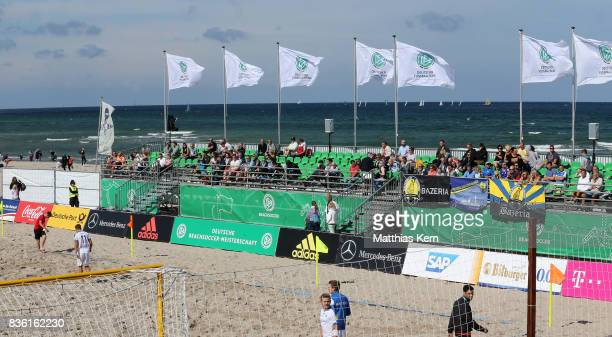 A general view on day 2 of the 2017 German Beach Soccer Championship on August 20 2017 in Warnemunde Germany