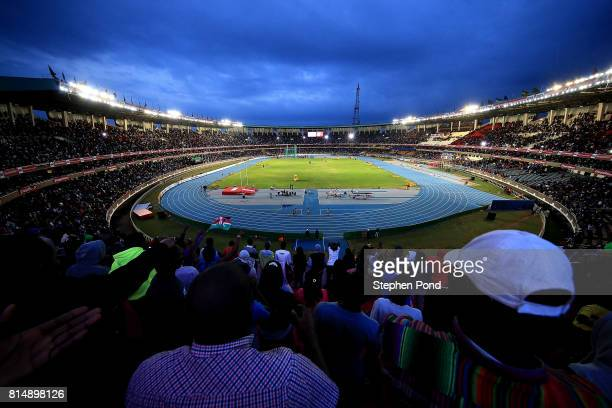 A general view on day four of the IAAF U18 World Championships at the Kasarani Stadium on July 15 2017 in Nairobi Kenya