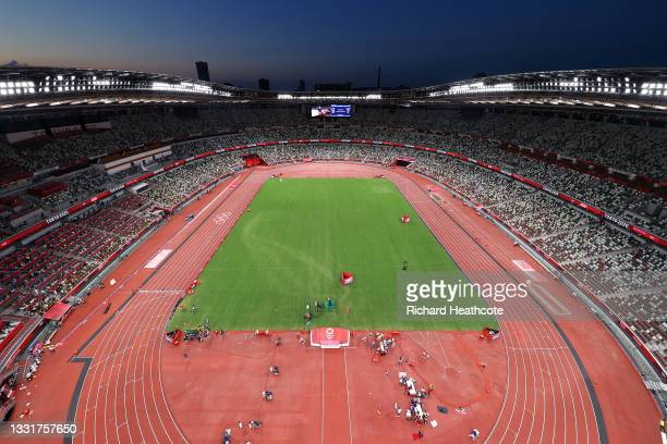 General view on day nine of the Tokyo 2020 Olympic Games at Olympic Stadium on August 01, 2021 in Tokyo, Japan.