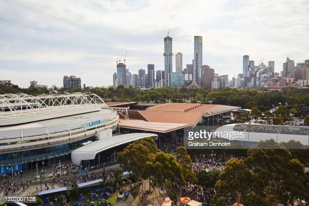 General view on day seven of the 2020 Australian Open at Melbourne Park on January 26, 2020 in Melbourne, Australia.