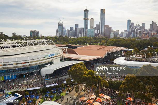 A general view on day seven of the 2020 Australian Open at Melbourne Park on January 26 2020 in Melbourne Australia