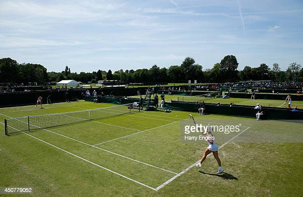 General view on day two of the Wimbledon Championships 2014 Qualifying at the Bank of England Sports Centre on June 17, 2014 in London, England.