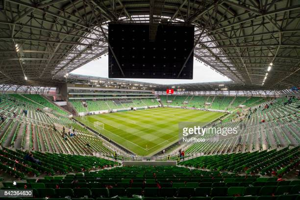 General view on Groupama Arena during the FIFA World Cup 2018 Qualifying Round match between Hungary and Portugal at Groupama Arena in Budapest,...