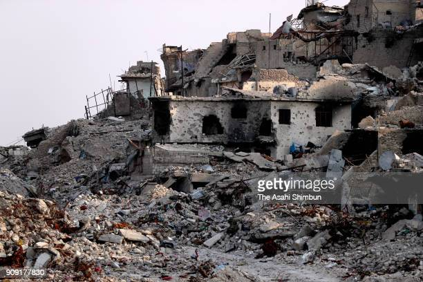 A general view on January 16 2018 in Mosul Iraq