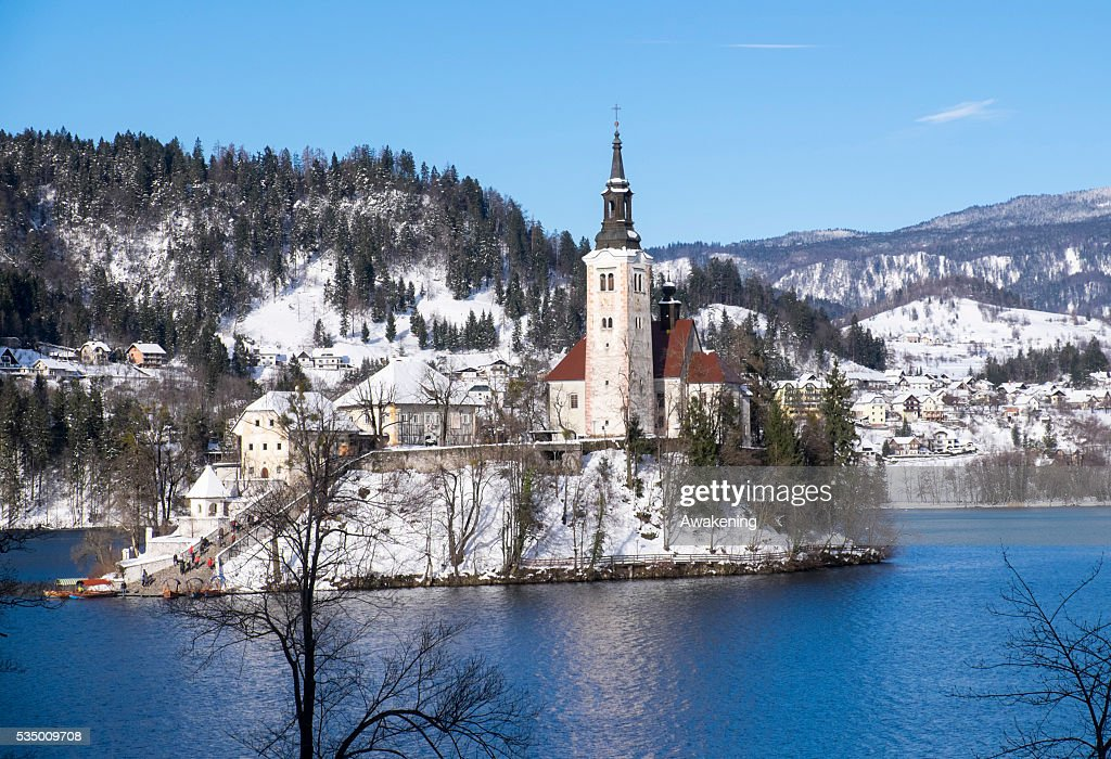 General View On Lake Bled In Slovenia With Its Castle And