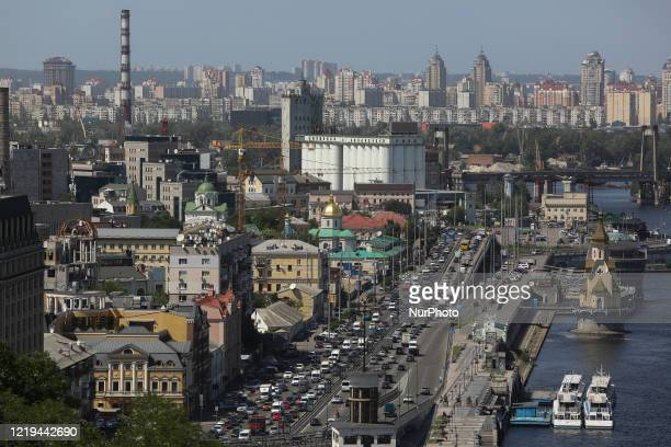 General view on old town in Kyiv, Ukraine, June 11, 2020. Prime Minister Denys Shmyhal states that strengthening of quarantine throughout the country...