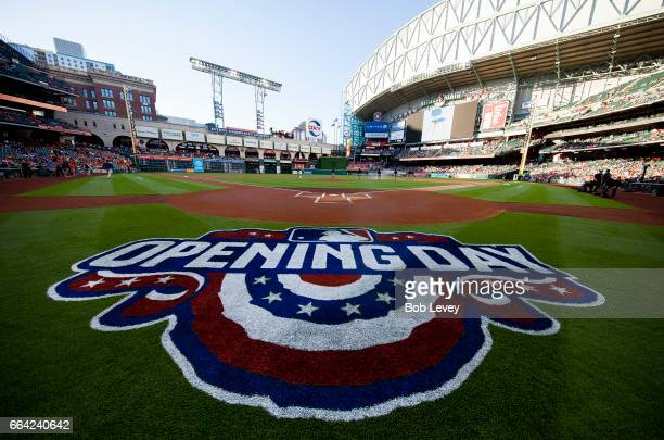 A general view on Opening Day on Opening Day at Minute Maid Park on April 3 2017 in Houston Texas