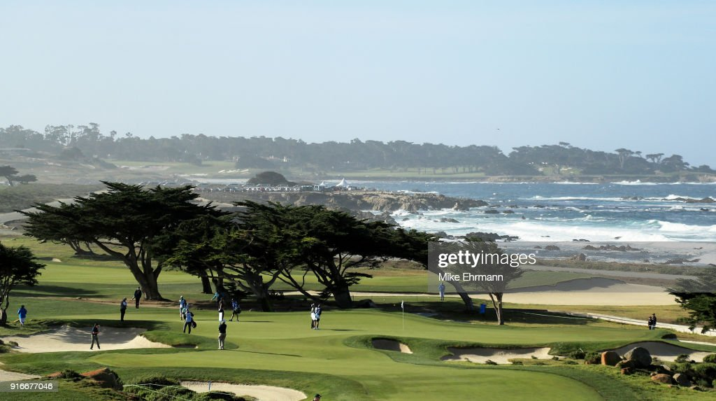 A general view on the 11th green during Round Three of the AT&T Pebble Beach Pro-Am at Monterey Peninsula Country Club on February 10, 2018 in Pebble Beach, California.