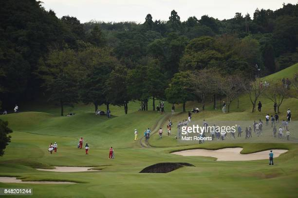 A general view on the 12th hole during the final round of the Munsingwear Ladies Tokai Classic 2017 at the Shin Minami Aichi Country Club Mihama...