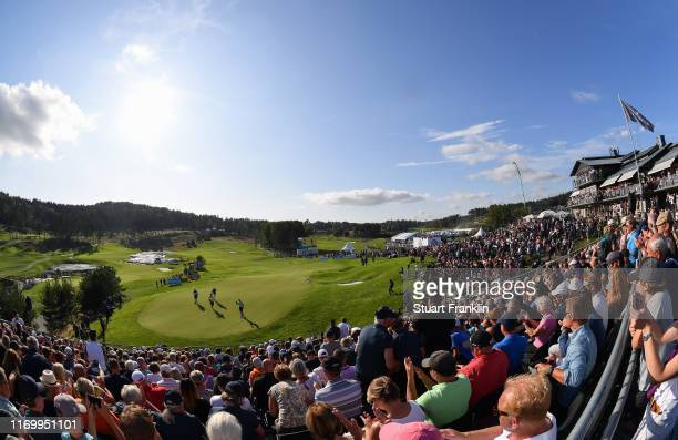 General view on the 18th hole during Day three of the Scandinavian Invitation at The Hills and Sports Club on August 24, 2019 in Molndal, Sweden.