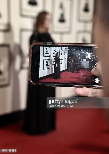 General view on the carpet during The 58th GRAMMY Awards at Staples Center on February 15 2016 in Los Angeles California