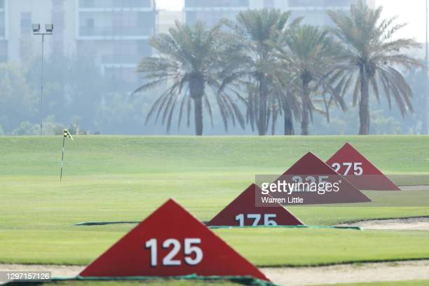 General view on the driving range during practice ahead of the Abu Dhabi HSBC Championship at Abu Dhabi Golf Club on January 19, 2021 in Abu Dhabi,...