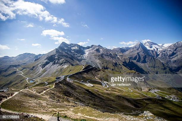 A general view on the Grossglockner high alpine road on September 08 near Zell am See Austria The Grossglockner high alpine road is the highest...
