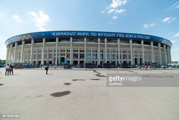 General view on the Luzhniki Stadium during the 2018 FIFA World Cup Russia Group F match between Germany and Mexico at Luzhniki Stadium in Moscow...