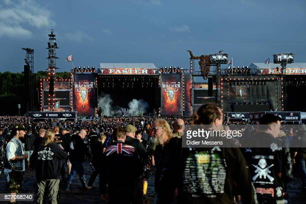 General view on the main stage during the Wacken Open Air festival on August 4 2017 in Wacken Germany Wacken is a village in northern Germany with a...