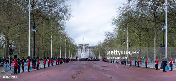 General view on The Mall during the State Opening of Parliament on May 8, 2013 in London, England. Queen Elizabeth II unveiled the coalition...