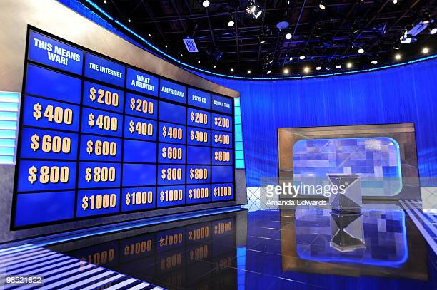 "General view on the set of the ""Jeopardy!"" Million Dollar Celebrity Invitational Tournament Show Taping on April 17, 2010 in Culver City, California."