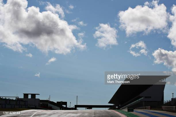 General view on track during previews ahead of the F1 Grand Prix of Portugal at Autodromo Internacional do Algarve on October 22, 2020 in Portimao,...
